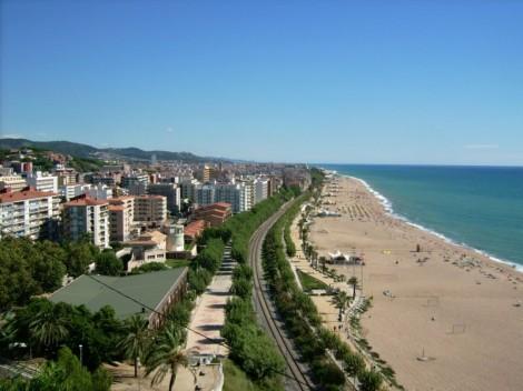 Pláž a nábřeží města