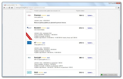 Porovnejte si nejlepší nabídky cestovního pojištění online.